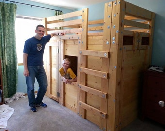 Twin Cabin Bed Plans - The Bed Fort