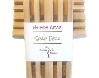 Natural Cedar Soap Dish, Natural Soap Deck, made in Canada