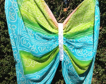 Butterfly Wings - Fairy Wings - Made from a Vintage Sari - Wings for Pretend Play