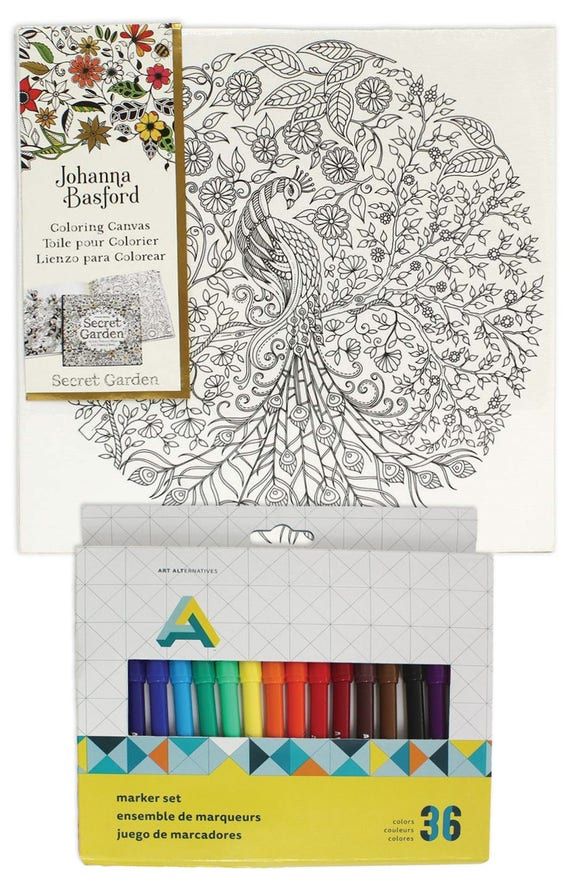 Canvas Art Kit For Adults Johanna Basford Coloring Canvas Secret