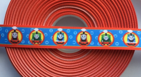 Thomas Train Red Blue Engine Grosgrain Ribbon 7 8 Quot 1