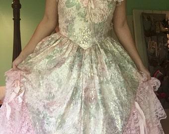 beautiful vintage Loralie ballgown party dress