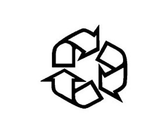 small Recycle Symbol  Rubber Stamp