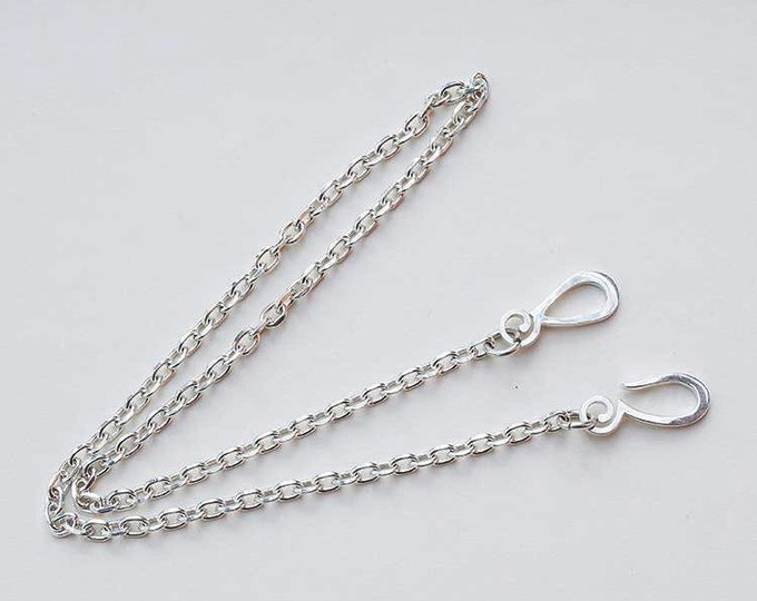 Plain Silver Chain   Silver Chain Necklace   925 Sterling Silver Chain   Silver Link Chain   Silver Necklace   Simple Chain Necklace Tribal