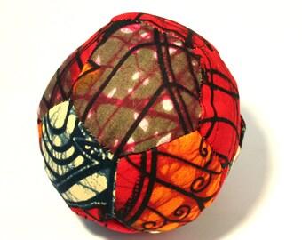 Orgone Fabric Ball - Rose Quartz and Amethyst  - Ankara Chitenge Sphere - Patchwork - Spiritual Gift & Decor - Contains 1 Orgone Puck