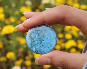 Vincent van Gogh Cherry Blossoms Impressionist Button