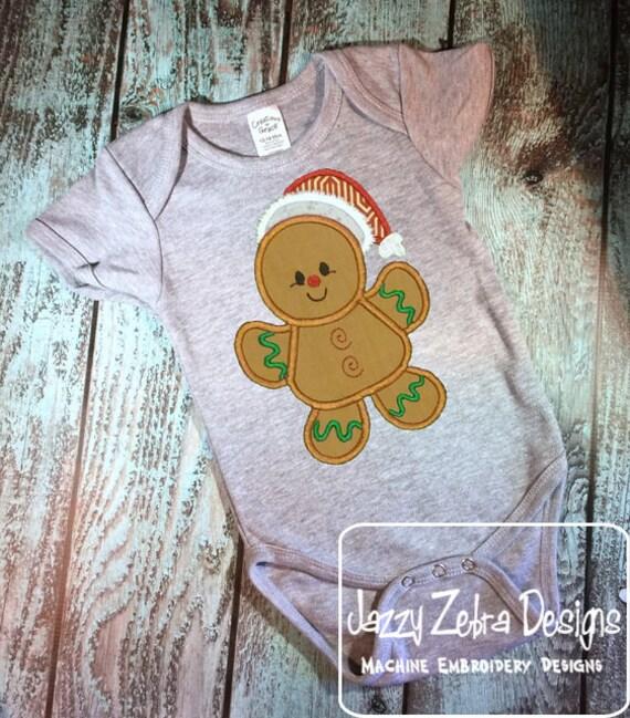 Gingerbread boy 130 Appliqué embroidery design - gingerbread boy appliqué design - Christmas Applique Design - boy appliqué design