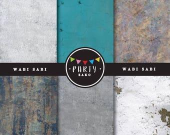 Wabi Sabi Digital paper - Wabi Sabi Texture - Instant Download - Wabi Sabi digital paper - Imperfect digital paper