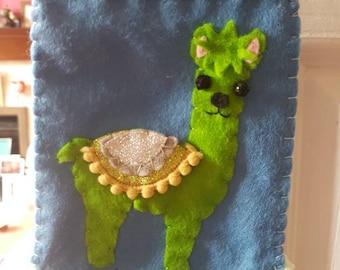 Llama hanging banner