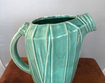 Vintage McCoy Pottery Pitcher - Turquoise