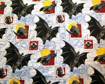 Vintage Batman sheet fabric twin fitted 1992 90s