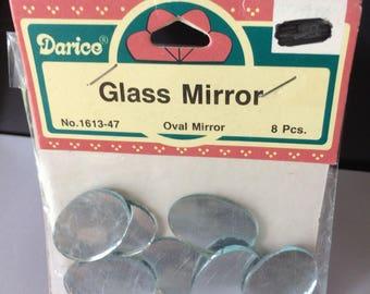 "Oval Mirror, 8 pcs, 1"" x 5/8"", Darico"