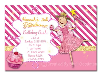 Pinkalicious birthday  Invitations - printable - DIY - digital file (P04)