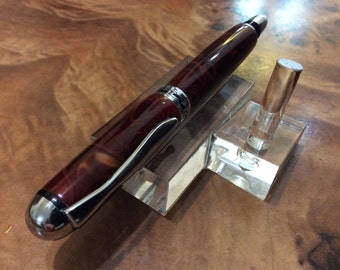 Sedona rollerball in Rust acrylic resin with chrome accents