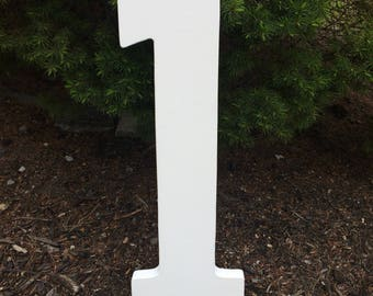 Large Wooden Numbers (Handmade) Birthday - Anniversary - Props