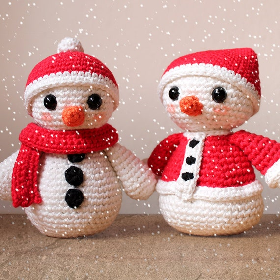 Snowmen - Christmas Patterns. Amigurumi Pattern PDF.