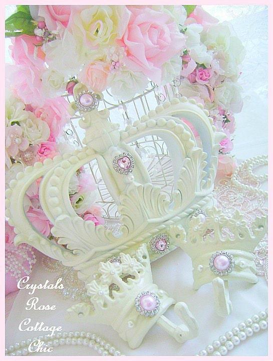 shabby chic fran ais ivoire lit couronne auvent ensemble fleur. Black Bedroom Furniture Sets. Home Design Ideas