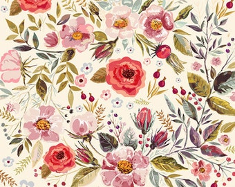 PRINTS WATERCOLOR floral pattern with beautiful flowers. Fine art prints. Beautiful print for living room.
