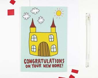 Congratulations New Home Card Moving Card Moving In
