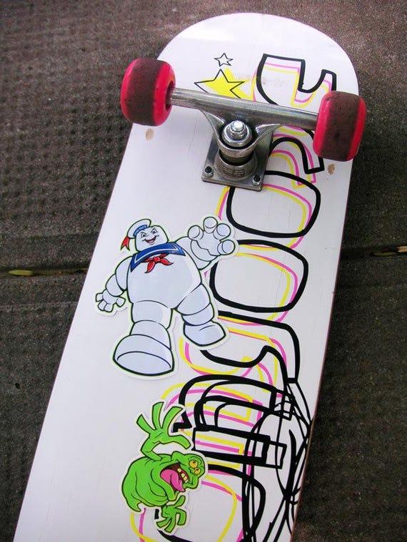 Ghostbusters vinyl stickers set slimer stay puft marshmallow man die cut premium decals