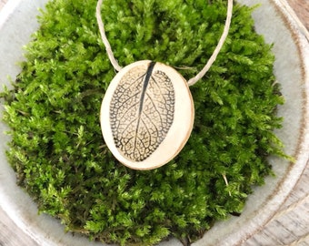 Natural Herb Pendant Necklace - Sage in Iron Oxide