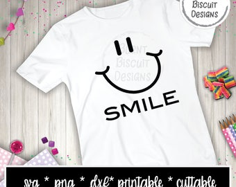 Smile Smiley Face svg Cuttable Printable Design