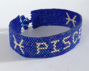 Pisces Zodiac Horoscope Sign - Bracelet Pattern - Peyote Pattern