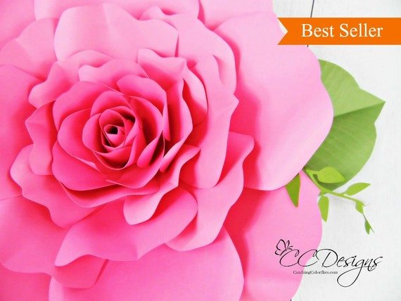 Giant paper roses paper rose flower patterns printable mightylinksfo