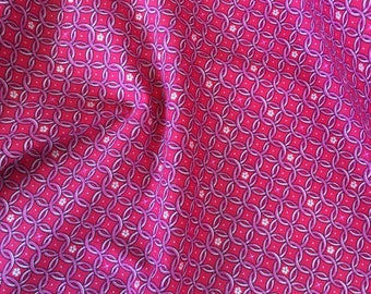Liberty of London Stretch Cotton - Interlocking Rings in Pink by HALF YARD
