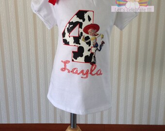 Birthday girl shirt,Jessie Birthday shirt,toy story birthday shirt, girls tops
