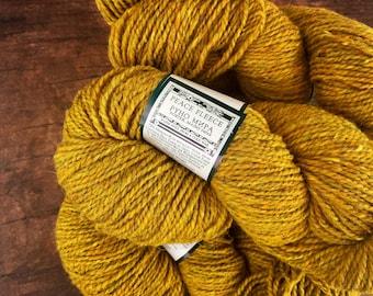 Peace Fleece yarn - Wild mustard, rustic wool yarn, knitting yarn, worsted weight, yarn for knitting, wool yarn worsted, crocheting yarn