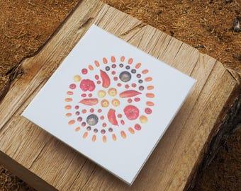 Tomato Mandala Print