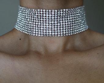 Vivir Diamond Choker ~ Rhinestone Choker