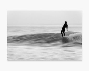 Nose Ride Blur ~ Surf Photography, Longboard, Water, Surfing, Surf, Ocean, California, Beach, Wall Art, Living Room, Bedroom, Beach Art
