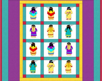 Sunbonnet Sue Indian Quilt Pattern