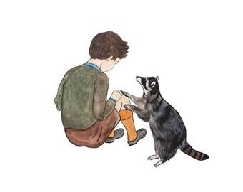 Comforting Raccoon