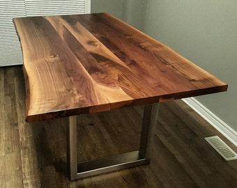 Custom Live Edge Black Walnut Kitchen Table