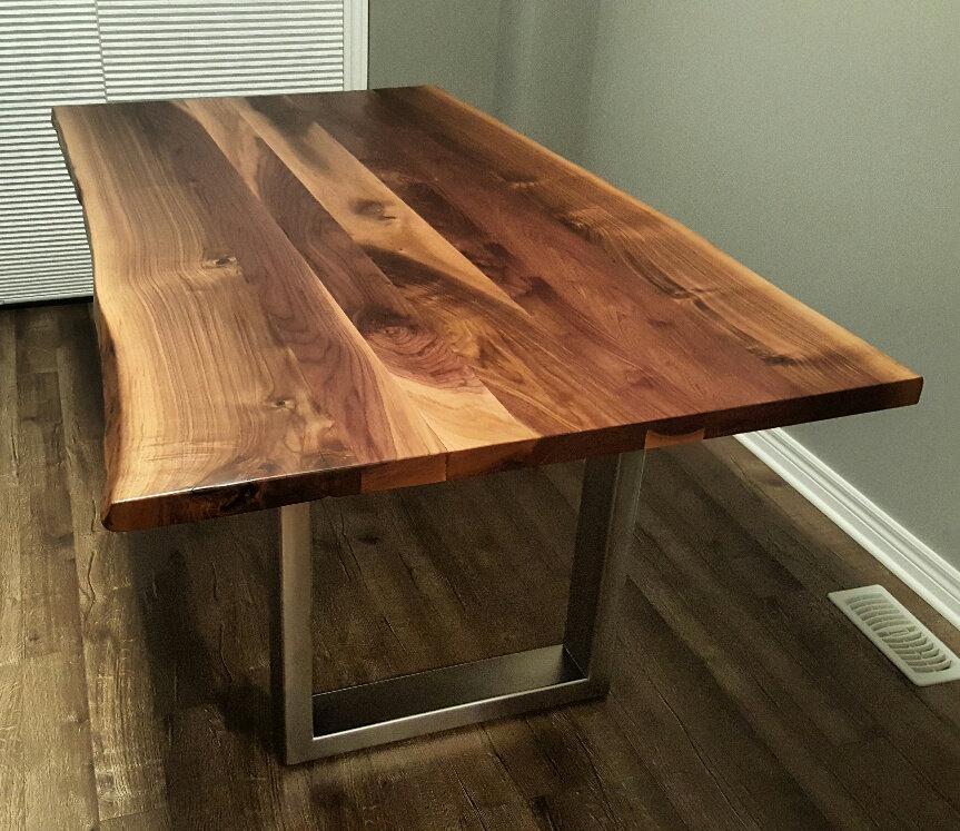 Custom live edge black walnut kitchen table zoom workwithnaturefo