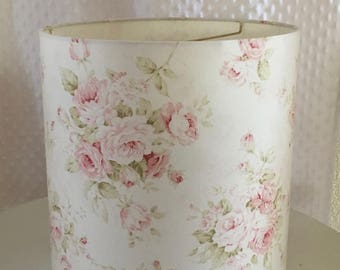 Lamp shade etsy shabby cottage chic floral drum lampshade pink floral lamp shade kids room nursery aloadofball Choice Image