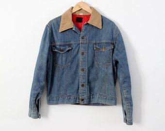 1960s Sears Roebucks denim jacket, insulated denim jacket