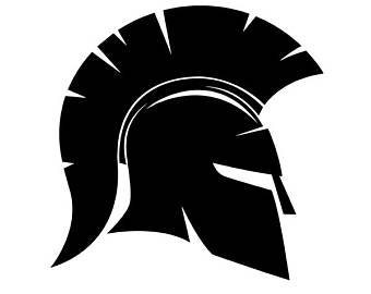 Vinyl Trojan Helmet