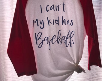 "Custom""I can't my son has baseball"" sleeves"