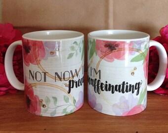 Not Now I'm Procaffeinating Mug Set