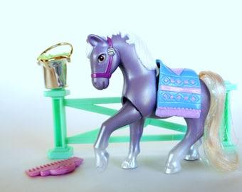 Vintage Littlest Pet Shop Crystal Pony Playset by Kenner 1994