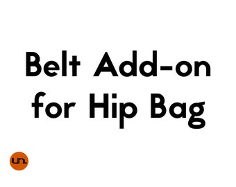 Handmade, Personalized, Belt Add-On for Hip Bags, Vegan Leather Belt, Waist Bag Belt, Hip Bag Belt, Festival Bag Belt - UNUSUAL Hip Bags