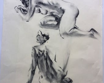 Two female figure studies