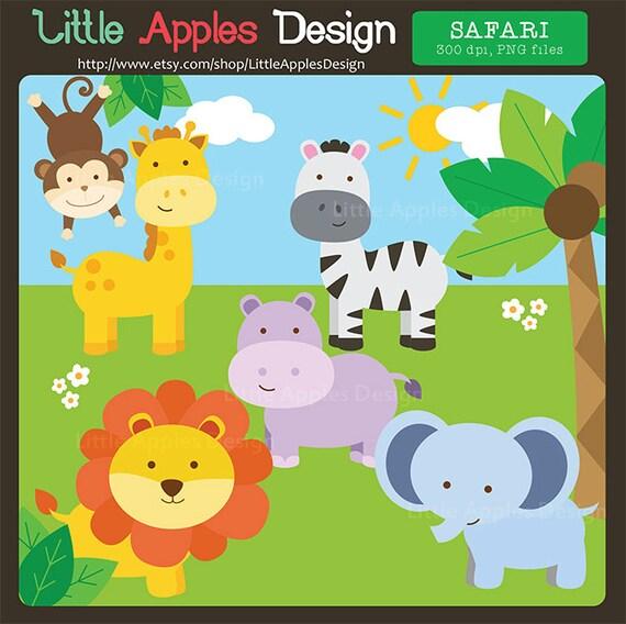 Jungle Safari Vbs: Items Similar To Jungle ClipArt / Safari Clipart / Jungle