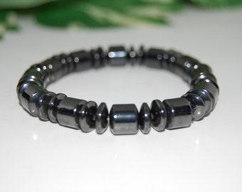 Magnetic Bracelet,Magnetic Hematite Beads Bracelet,Man,Woman,Health,Healing,Relieve,Protection,Meditation,Yoga,Boho,Stretch fits,Gift