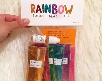 Rainbow Glitter Beard Kit