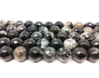 Faceted Beads  Agate Beads  Big Beads Gemstone Beads for Jewelry Making Bracelet Beads Large Beads 12mm Beads Jewelry Beads Beading Supplies